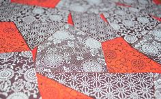 Handmade origami paper  Red patchwork