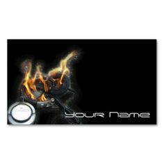 DJ  Business Card. This great business card design is available for customization. All text style, colors, sizes can be modified to fit your needs. Just click the image to learn more!