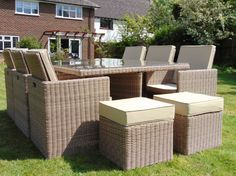 RATTAN GARDEN FURNITURE|THE LIFESTYLE COMPANY DANBURY Rattan Garden Furniture, Outdoor Furniture Sets, Outdoor Decor, Lifestyle, Garden Ideas, Design, Home Decor, Decoration Home, Rattan Garden Furniture Sets