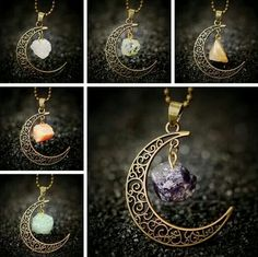Beautiful! Moon and gem jewelry! ♡ @mummybonnie