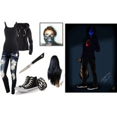 """""""Eyeless Jack's Girl"""" by ellaquotev on Polyvore"""