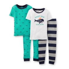 Carter's® 4-pc. Whale Pajama Set – Boys 2t-5t  found at @JCPenney