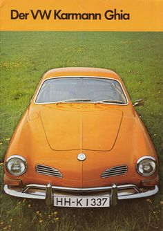 1971 VW Karmann Ghia German Ad. SO RAD.