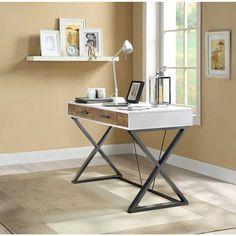 Samford Contemporary Computer Desk, White: Furniture : Walmart.com