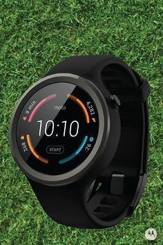 Get fit with new Moto 360 Sport, the must-have fitness watch designed to keep you on track. Connect to your favorite fitness apps or energize your workout with your favorite tunes wirelessly—the possibilities are endless!