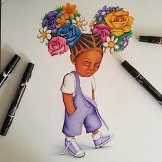 Afro hair is beautiful Black Girl Art, Black Women Art, Black Girls Rock, Black Girl Magic, Art Girl, African American Art, African Art, African Beauty, American History