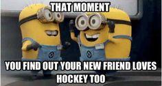 Hockey - minions - That moment!