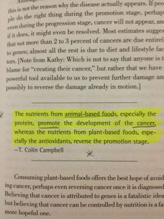 T. Colin Campbell quote from Kathy Freston's VEGANIST