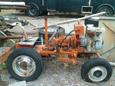 Doodlebug Tractor Rebuild - A Sheepdog Project Small Tractors, Old Tractors, Lawn Tractors, Antique Tractors, Garden Tractor Attachments, Homemade Tractor, Utility Tractor, Tractor Pulling, Engin