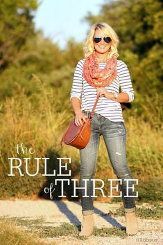 Hi Sugarplum | How to use The Rule of Three create a stylish outfit every time!