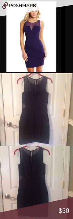 Sale‼️ Price Firm! Guess LBD with mesh sides. A must have wardrobe staple! With mesh side cut outs and a mesh V neckline in a figure flattering thicker scuba material, this versatile dress will work for any occasion. Worn twice and in excellent used condition. No trades. Please note, cover shot is of a similar dress. GUESS Dresses Mini