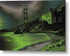 Golden Gate Bridge Metal Print featuring the photograph Peaceful Eerie Feeling by Marnie Patchett