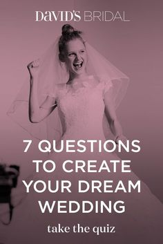 Get a custom wedding Pinterest board, tailored just to you! Take the 7-question quiz and we'll pull together the most inspiring pins with wedding dresses, bridal party looks, and theme ideas. To bring your wedding vision to life, make an appointment at David's Bridal today.