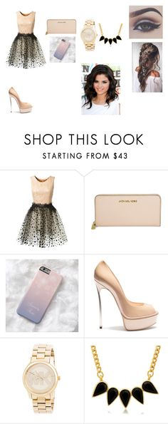 """Happy new year"" by camelia-kaylahana on Polyvore featuring Loyd/Ford, Michael Kors, Casadei and George & Laurel"