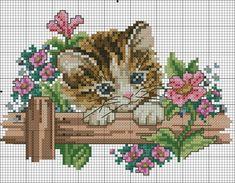 Cross Stitch Owl, Free Cross Stitch Charts, Cat Cross Stitches, Cross Stitch Cards, Cross Stitch Animals, Cross Stitch Flowers, Cross Stitch Designs, Cross Stitching, Cross Stitch Embroidery