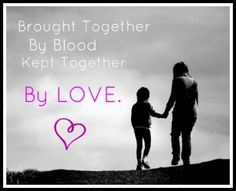 Aunt and niece: brought together by blood, kept together by love.