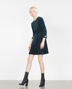 Image 1 of SPARKLY VELVET DRESS from Zara