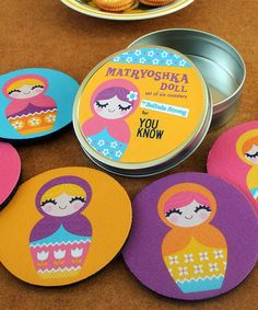 Look what I found on #zulily! Matryoshka Dolls Coaster Set #zulilyfinds