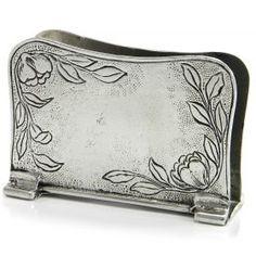 Napkin holder Art Nouveau Napkin holder of pewter made by hand. #madeinitaly #artigianato #pewter #peltro