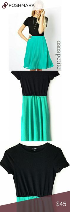 """ASOS Petite Exclusive Midi Contrast Dress In excellent condition. No signs of wear. Length: 38.5"""". Size 2. Smoke and pet free home.  Ships within one day. ASOS Dresses Midi"""