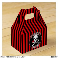 Pirate Bride Gift Box Vampire Wedding, Pirate Party Invitations, Pirate Wedding, Walking The Plank, Pirate Birthday, Nontraditional Wedding, Jolly Roger, Skull And Crossbones, Alternative Wedding