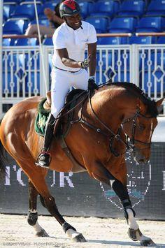 Abdelkebir  Ouaddar & Quickly de Kreisker (Morocco) winner of the class ~ Athina Onassis Horse Show 2015