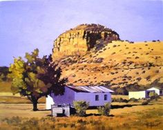 Aasvogel Krans near New Bethesda Ted Hoefsloot Building Painting, South African Artists, Landscape Paintings, Landscapes, Art Portfolio, Monument Valley, Art Gallery, Fine Art, Painters