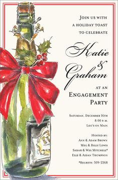 Holiday Bubbly Invitations