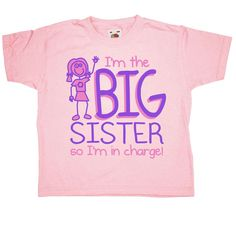 I'm The Big Sister Kids T Shirt - Light Pink / 9-11 Years