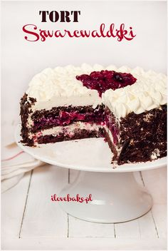 Black Forest Cake (Black Forest), the best recipe- Tort Szwarcwaldzki (czarny las), najlepszy – przepis Black Forest Black Forest Cake - Polish Desserts, Cookie Desserts, No Bake Desserts, Delicious Desserts, Dessert Recipes, Cupcakes, Cupcake Cakes, Homemade Cake Recipes, Baking Recipes