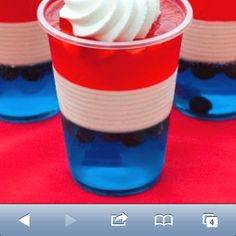 Cute fourth of July jello