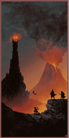 The Geeky Nerfherder: Cool Art: 'The Lord Of The Rings Trilogy' by Matt Ferguson