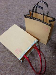 ハンドメイド:A5封筒をミニ紙袋に!