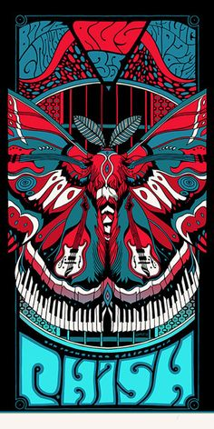 Phish - San Francisco 2013 (Poster/Night 2 of 3) - by Tyler Stout