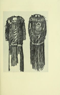 Dress of a Tungus shaman (bird-type), with metal decorations and fringes. Back…
