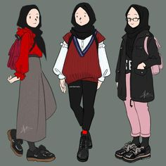 Fashion Drawing Sketches Design Reference Anime Ideas scarf is an essential part while Drawing Cartoon Characters, Cartoon Drawings, Easy Drawings, Pencil Drawings, Dress Drawing Easy, Hijab Drawing, Illustration Sketches, Drawing Sketches, Drawing Ideas