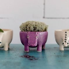 Happy friends trio!! They all are on the way to their new homes and they all are traveling to the different directions of the world. I am still working to make new presents for you all so don't forget to check #etsyshop from time to time ⚫Carefully molded and absolutely filled with  . #etsyseller #dinosaur #ceramics #designer #teacup #purple #hippo #mug #lifestylephotography #photography #liveauthentic #thatauthenticfeeling #productdesign #animal #white #kitchendetails #home...
