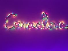 """Cosmic love"" Lights on wall"