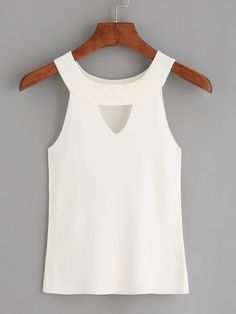 Obtain the broadest wide variety of females' top, and start to get trendy personal look. Fast Fashion, Fashion Online, African Fashion Dresses, Fashion Outfits, Fashion Design Template, Sweater Tank Top, Embroidery Fashion, White Girls, White White