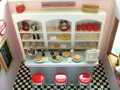 Inspiration for K's AG doll house    coke soda shop