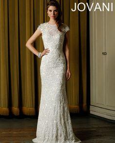 Wedding dresses on pinterest simple weddings sleeved for Simple form fitting wedding dresses