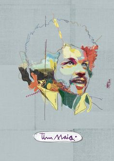"Tim Maia, art print. ""Unfinished"" with a bit of colour. Ace!"