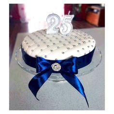 Baked by me bdaycake, birthdaycake ideas, baking, elegant, silver, white, blue, cake, surprise, birthday, birthday party, gift for him