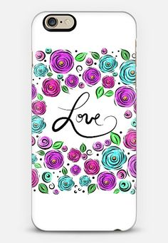 Love Blooms on White iPhone 6 case by Lisa Argyropoulos  09d0aa0fafa1