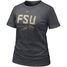 Nike Florida State Seminoles (FSU) Ladies Charcoal Frackle Blended T-shirt