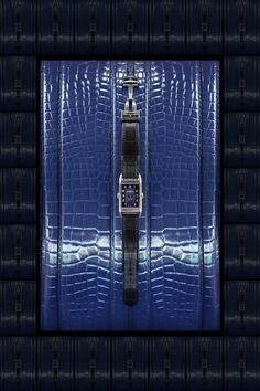 The Watch Gallery & Jaeger-LeCoultre Reverso Night & Day Watch Campaign. Creative Art Direction by @Fashitect Croc Texture