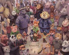 Zootopia by Tragobear on DeviantArt Zootopia Characters, Zootopia Fanart, Zootopia Comic, Disney Fan Art, Disney Pixar, Care Bear Party, Zootopia Nick And Judy, Fantastic Fox, Anthro Furry