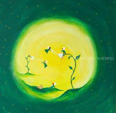 Spring  fairies original painting by DreamTreeWonders on Etsy