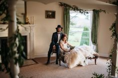 Our Beautiful Narnia styled wedding photo shoot. Photography by @chebirchhayes , flowers by @BambooTFG, bride's jewellery and groom's accessories by @juicecollection, gown is Wanderlust by @ianstuartbride, suit from @savilerowco , makeup by @Jessmachairmua