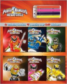 Power Rangers Coloring Book And Pencil Set Parragon Books 9781472307651 Amazon